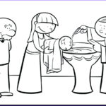 Jesus Baptism Coloring Page Beautiful Image Baptism Coloring Pages Download