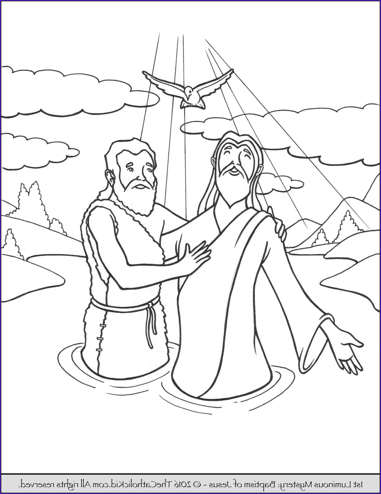 Jesus Baptism Coloring Page Luxury Gallery the 1st Luminous Mysteries Rosary Coloring Pages Baptism