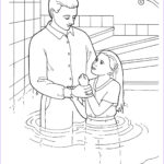 Jesus Baptism Coloring Page Luxury Stock Young Girl Baptism