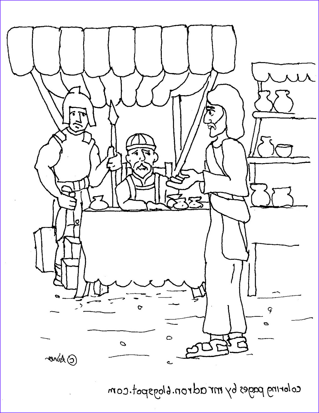 printable coloring page of jesus