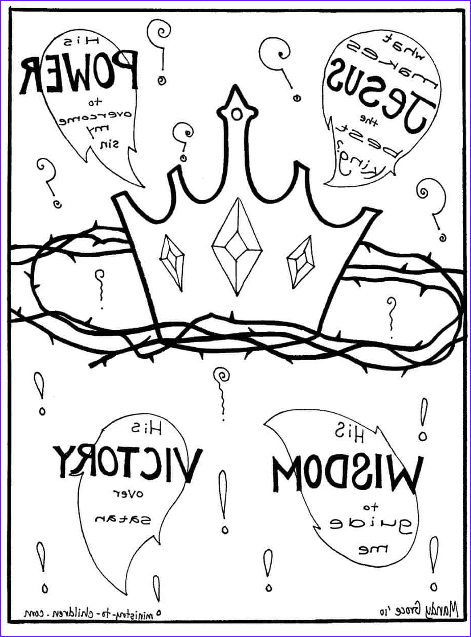 Jesus Coloring Page Beautiful Image Gospel Coloring Pages What Makes Jesus the Best King