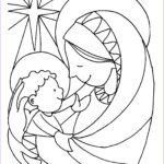 Jesus Coloring Pages For Kids Beautiful Image Mary & Baby Jesus – Coloring Page