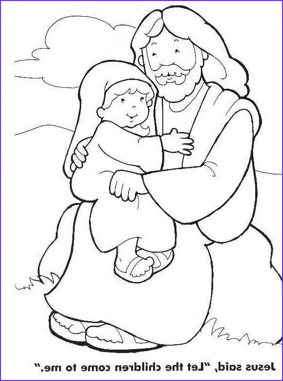 Jesus Coloring Pages for Kids Beautiful Photos Jesus Loves the Little Children Coloring Page