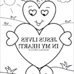 Jesus Coloring Pages For Kids Cool Image Church House Collection Blog Valentine S Day Heart Card
