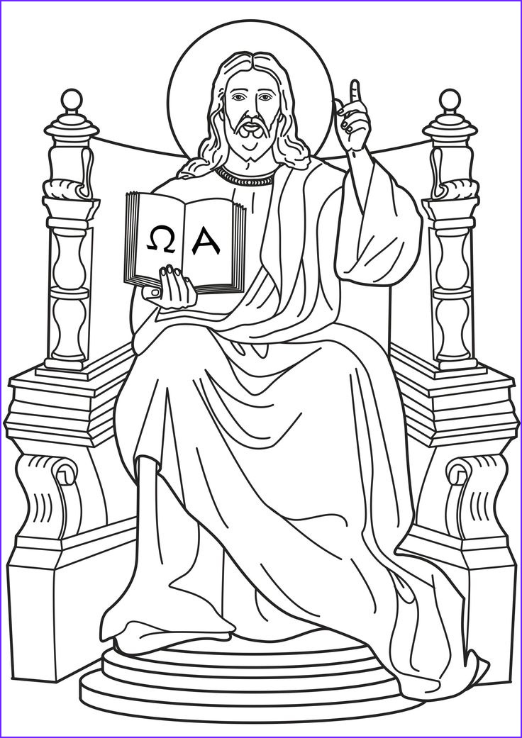 Jesus Coloring Sheet Cool Photos Jesus King Of Kings I Am the Alpha and Omega Catholic