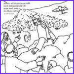 Jesus Feeding 5000 Coloring Page Luxury Collection Jesus Feeds The Five Thousand Bible Coloring Card