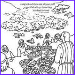 Jesus Feeds 5000 Coloring Pages Best Of Collection Jesus Feeds The Five Thousand Bible Coloring Card