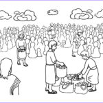 Jesus Feeds 5000 Coloring Pages Cool Images Free Christian Coloring Pages For Kids Children And