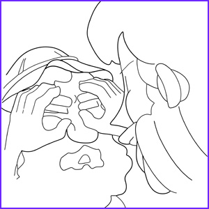 Jesus Heals the Blind Man Coloring Pages Cool Collection Jesus Heals A Blind Man Coloring Page