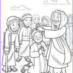 Jesus Heals The Blind Man Coloring Pages Unique Photos Jesus Heals A Leper Jesus Heals The Sick 10