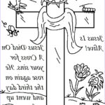 Jesus Resurrection Coloring Pages Awesome Photos Church House Collection Blog Easter Jesus Resurrection