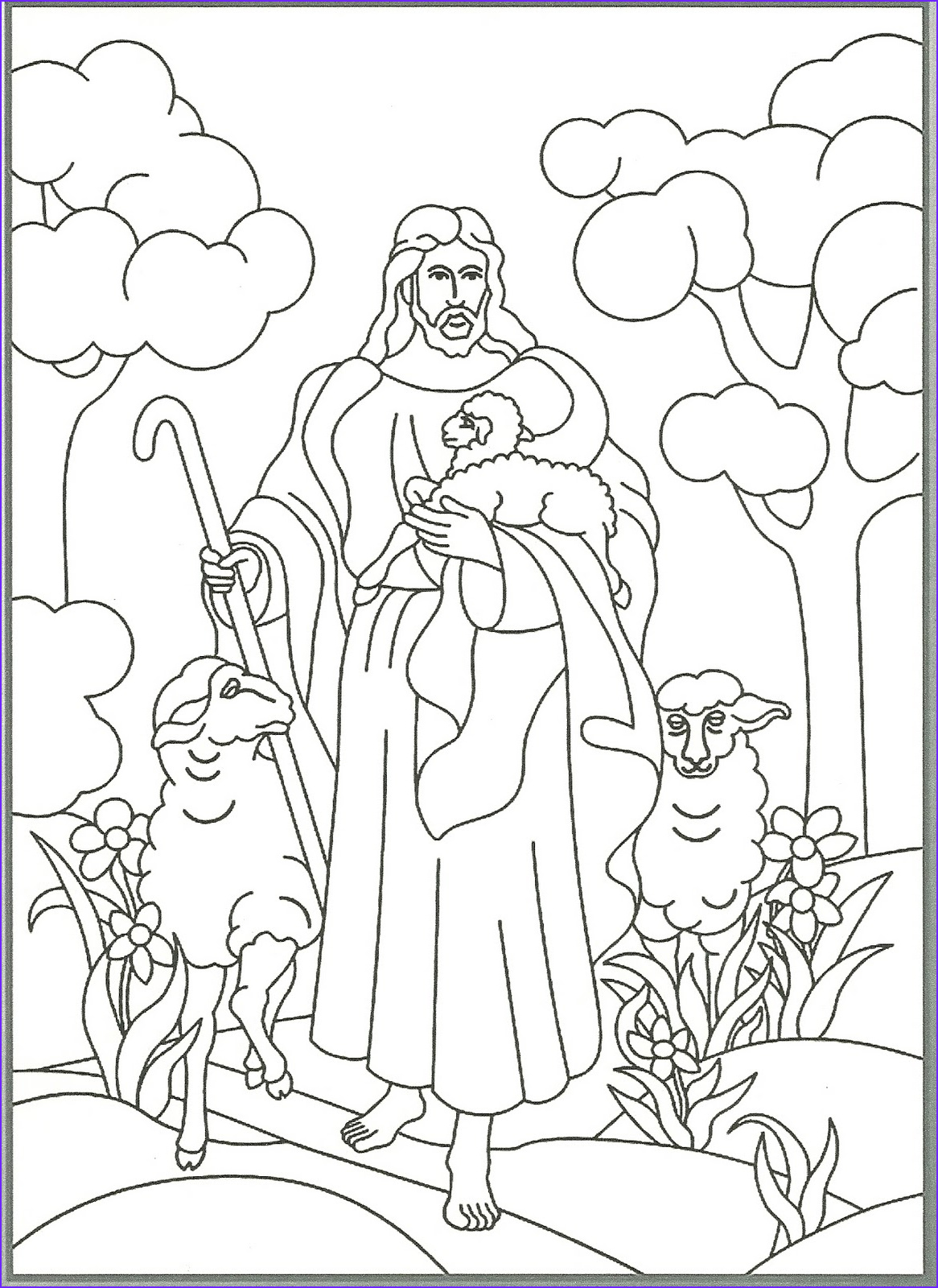Jesus the Good Shepherd Coloring Page Awesome Collection Happy Clean Living Primary 2 Lesson 23