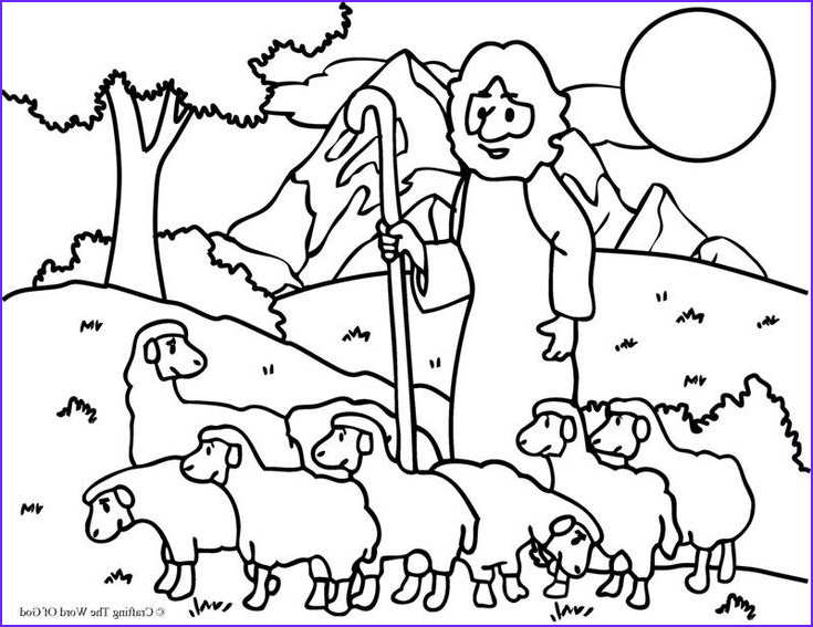 Jesus the Good Shepherd Coloring Page Beautiful Images the Good Shepherd the Lost Sheep