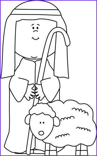 Jesus the Good Shepherd Coloring Page Beautiful Stock White Shepherd Sheep and Clip Art On Pinterest