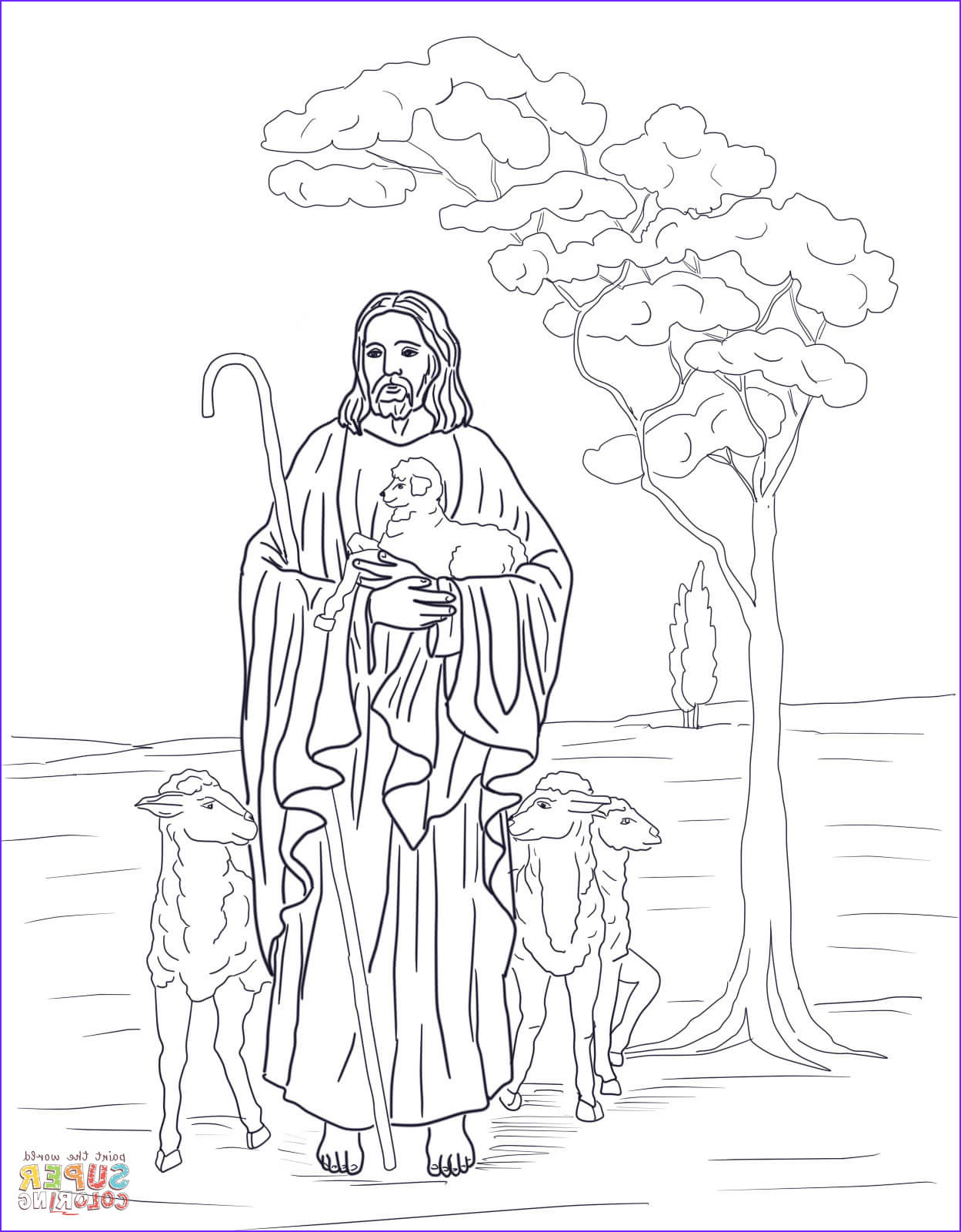 Jesus the Good Shepherd Coloring Page Best Of Image Jesus is Our Shepherd Coloring Page