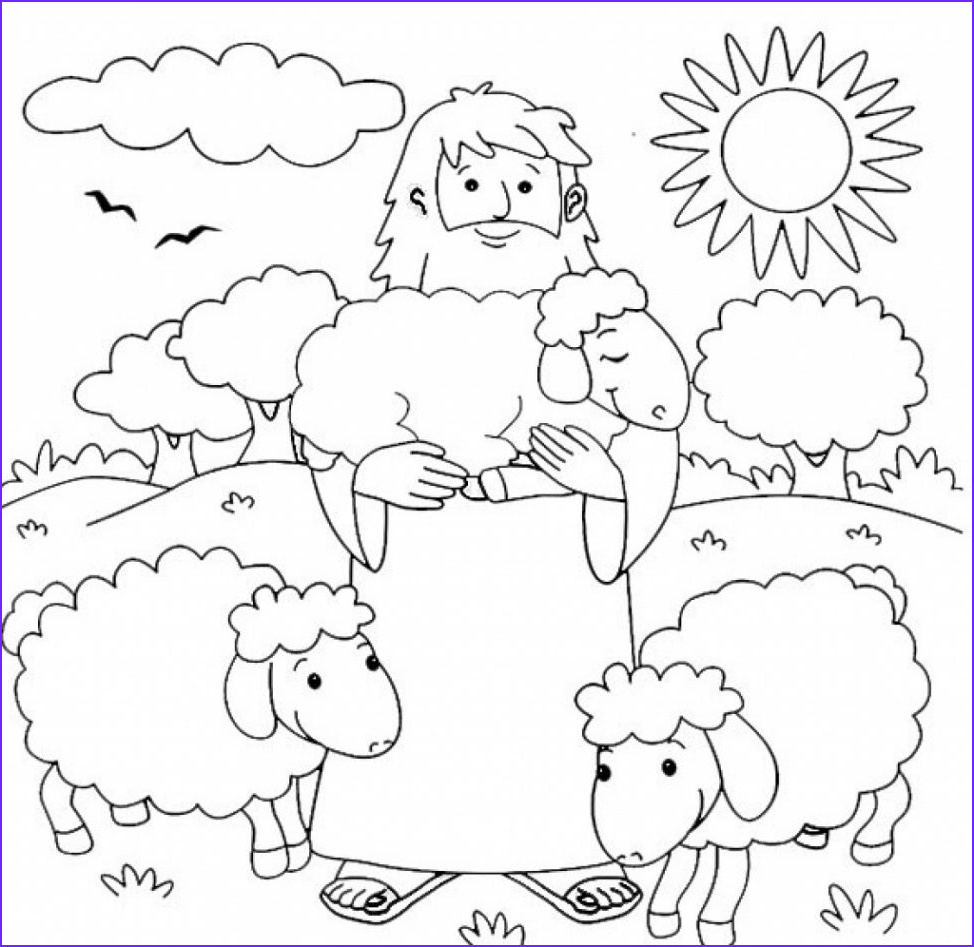i am the good shepherd coloring pages