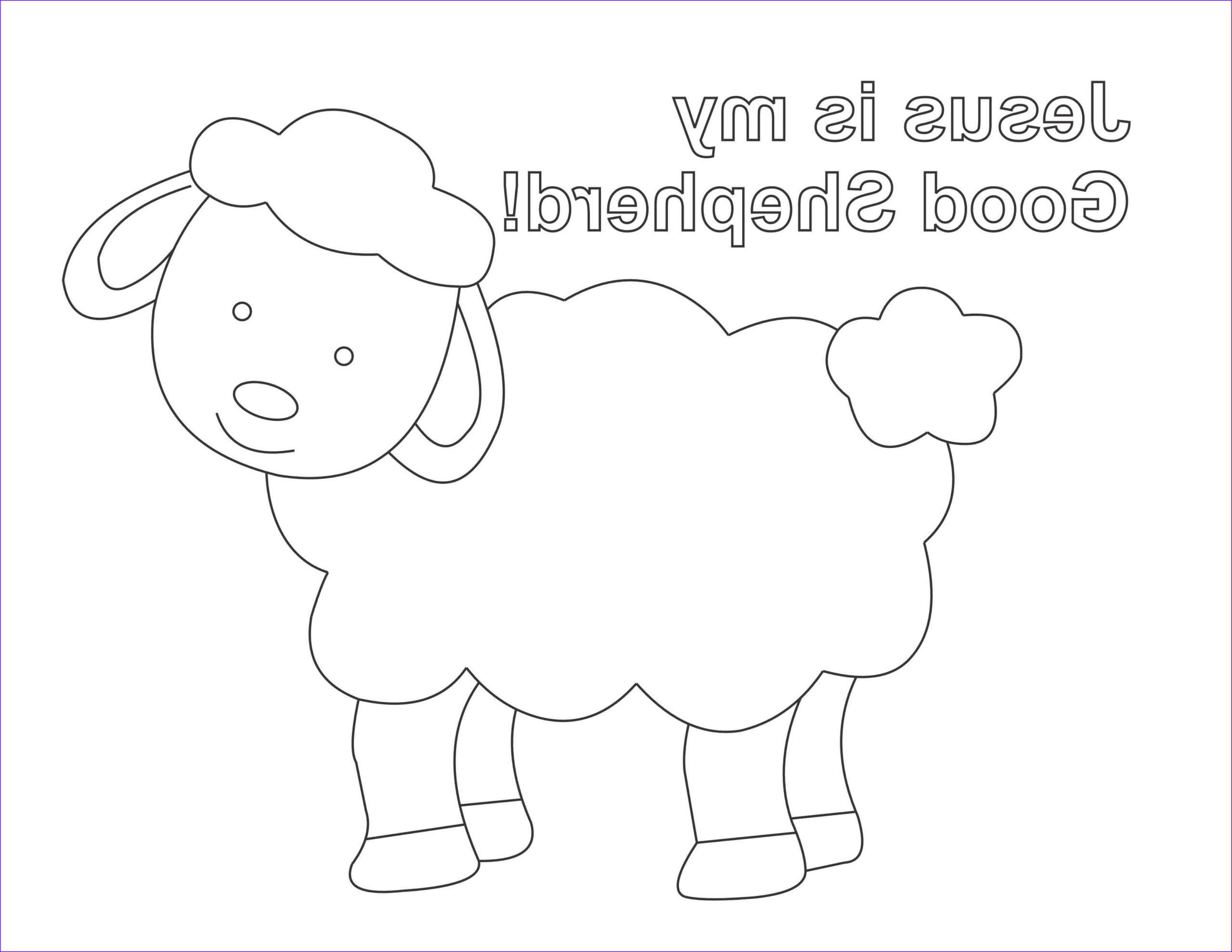 good shepherd coloring page