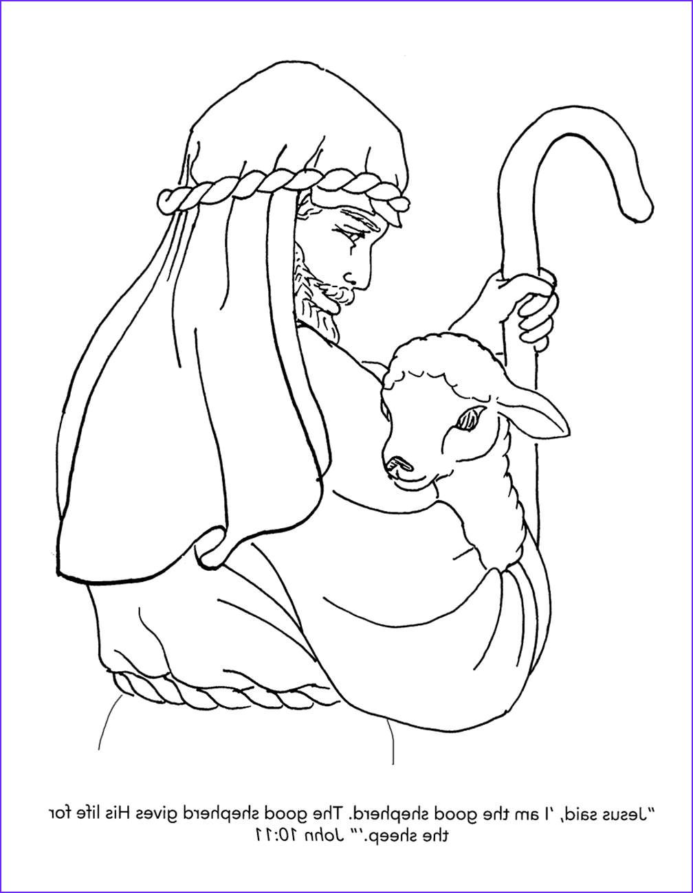 Jesus the Good Shepherd Coloring Page Unique Image Free Christian Coloring Pages for Kids Children and
