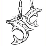Jewelry Coloring Pages Awesome Image Dolphin Earrings Jewelry Coloring Page Coloring Sky
