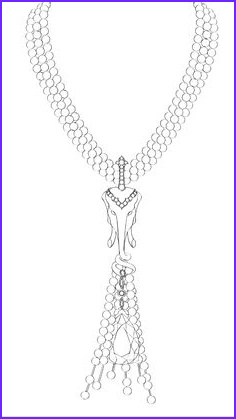 Jewelry Coloring Pages Awesome Photography Sketch Necklace Sketches Design Jewelry