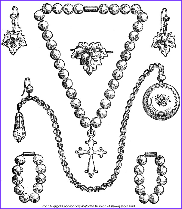 Jewelry Coloring Pages Beautiful Photography Earrings Coloring Pages