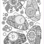 Jewelry Coloring Pages Cool Photos Book Jewelry Watches Fashion Adult Coloring Pages