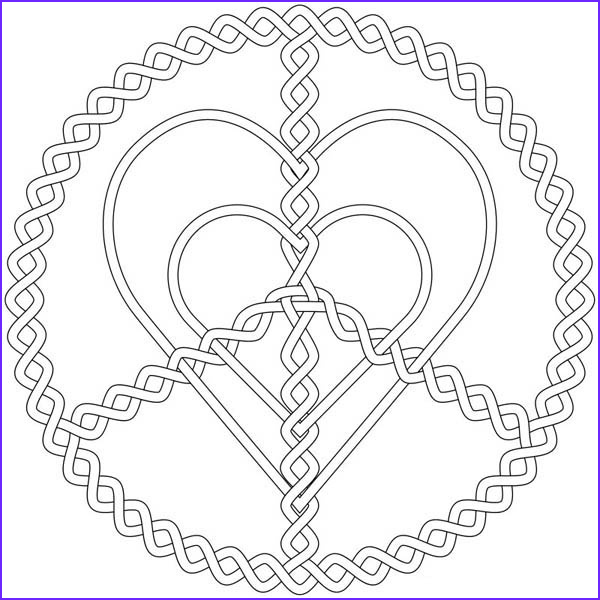 silver love and peace jewelry coloring page