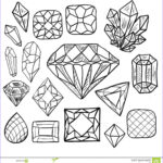 Jewelry Coloring Pages Cool Stock Hand Drawn Doodle Vector Jewelry Set Stock Vector