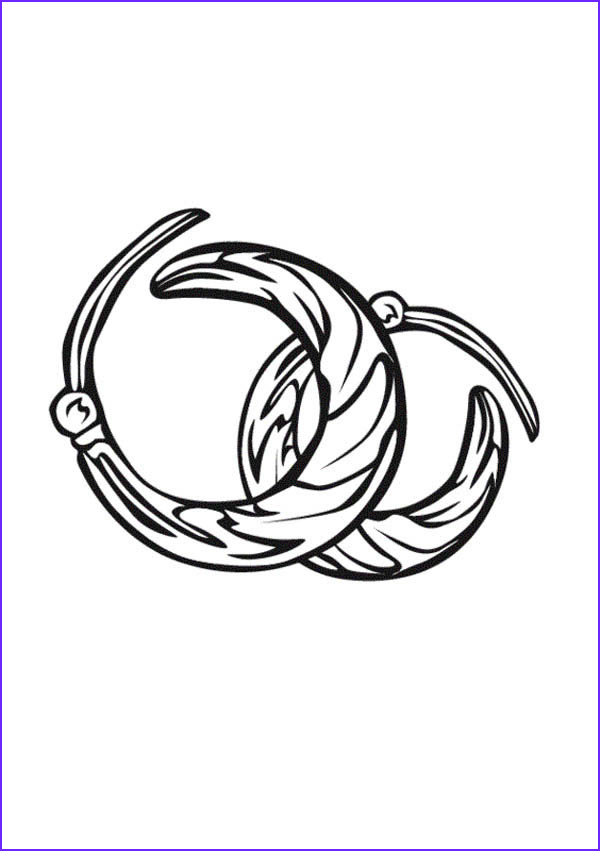 jewelry earrings coloring page