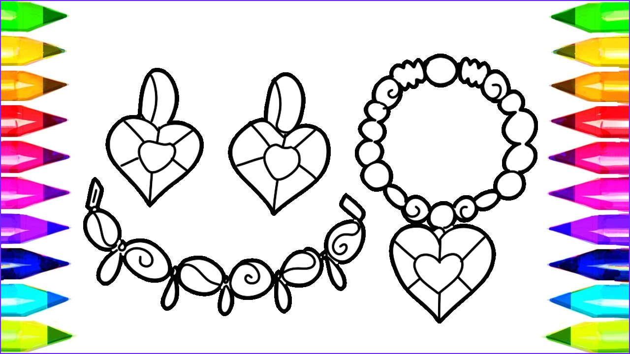 Jewelry Coloring Pages Luxury Images Jewelry Coloring Pages for Kids How to Draw Necklace