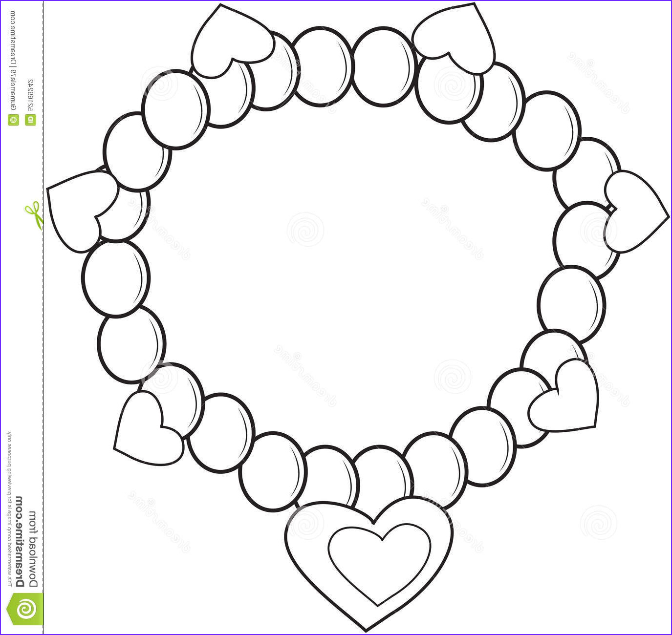 beautiful and attractive necklace colouring pages