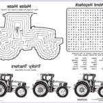 John Deere Coloring Pages Luxury Collection Coloring Printables Free Placemats