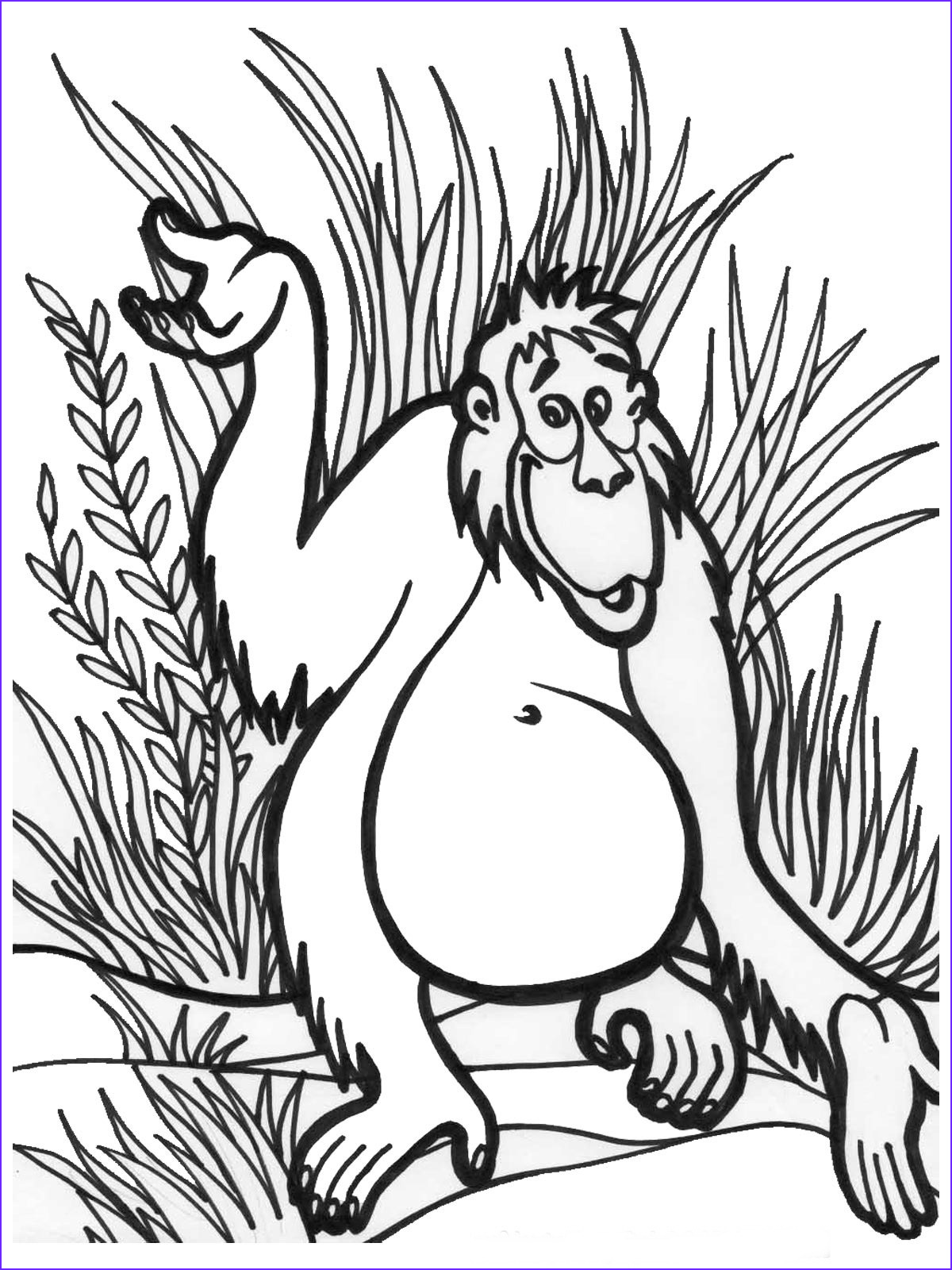 jungle coloring pages 7