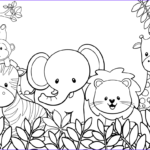 Jungle Coloring Pages Beautiful Collection Cute Animal Coloring Pages Best Coloring Pages For Kids