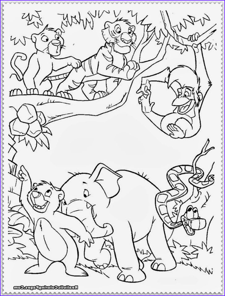 Jungle Coloring Pages Cool Photos Jungle Animal Coloring Pages Jungle Party