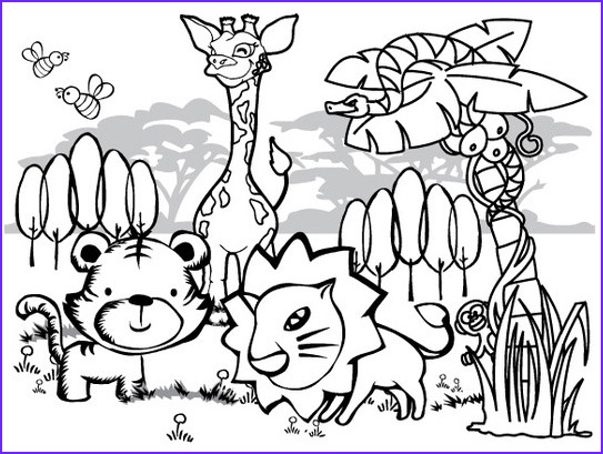 jungle coloring pages 11