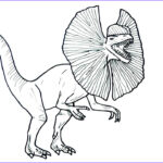 Jurassic World Coloring Pages New Photos Drawing And Coloring Dilophosaure From Jurassic Park