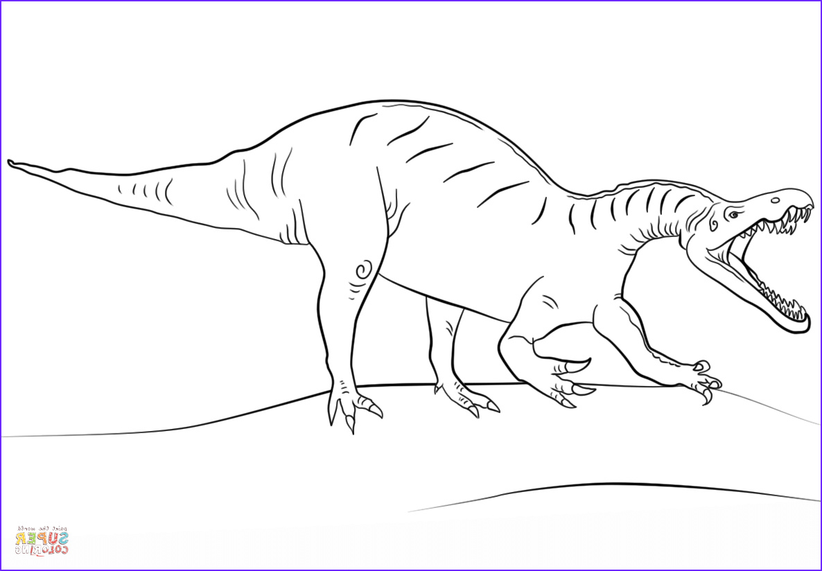 Jurassic World Coloring Pages New Photos Jurassic World Suchomimus Coloring Page