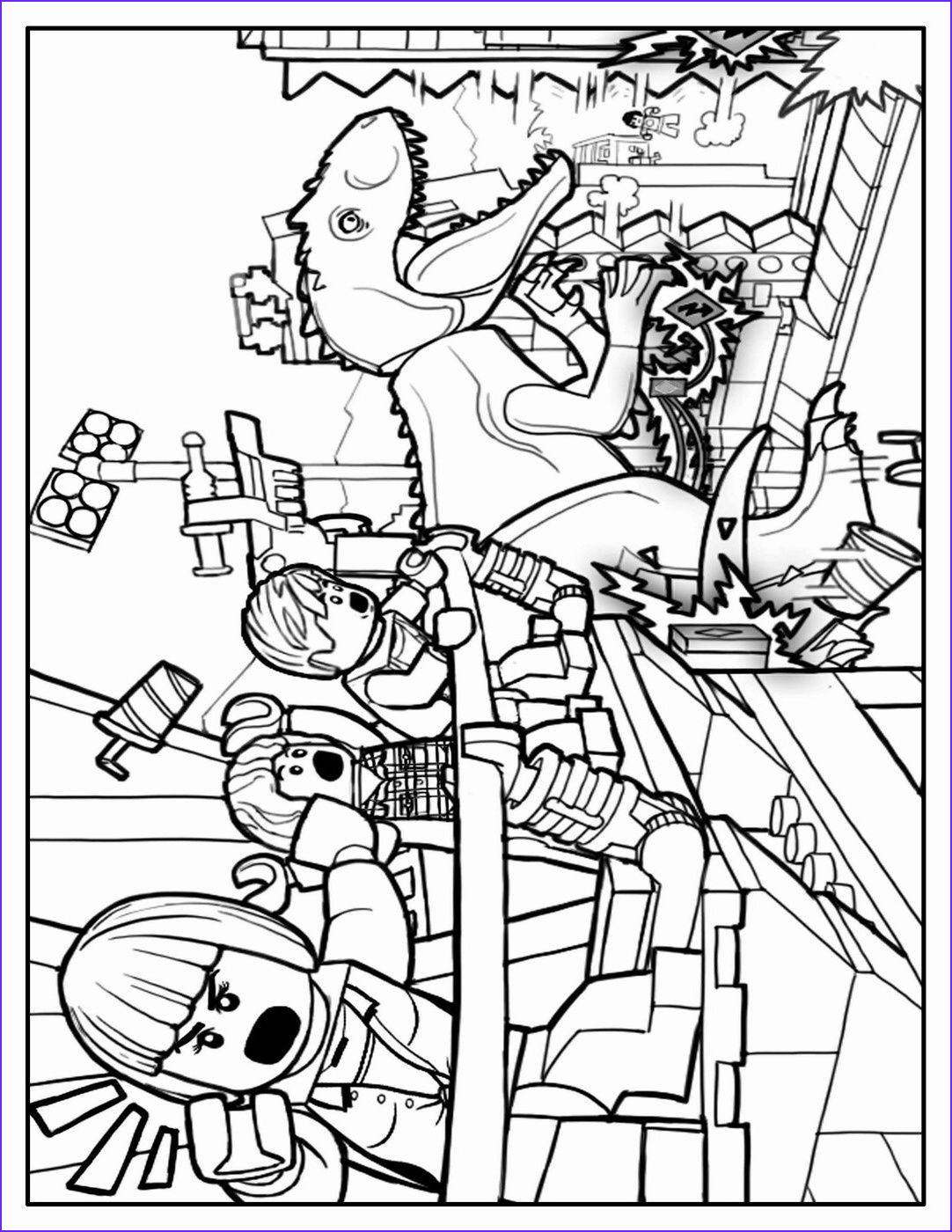 lego jurassic world coloring pages sketch templates