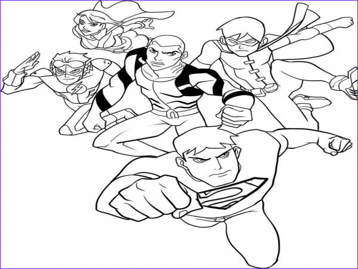 Justice League Coloring Book Awesome Image Justice League Coloring Pages Coloringsuite