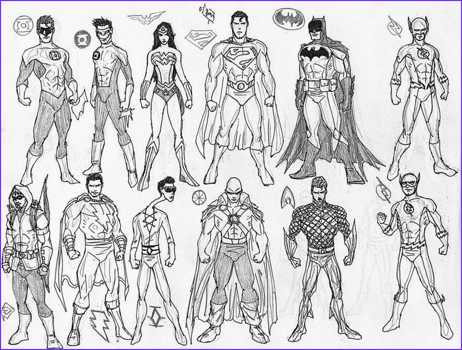 Justice League Coloring Book Awesome Photos Carmiell August 2014