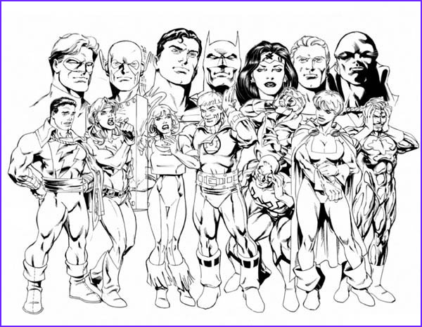 Justice League Coloring Book Beautiful Gallery the Member Of Justice League Coloring Page Netart