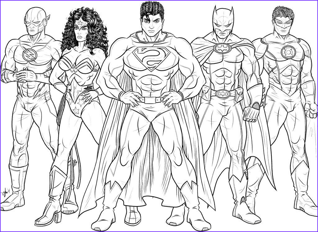 Justice League Coloring Book Cool Collection Free Justice League Coloring Pages Enjoy Coloring