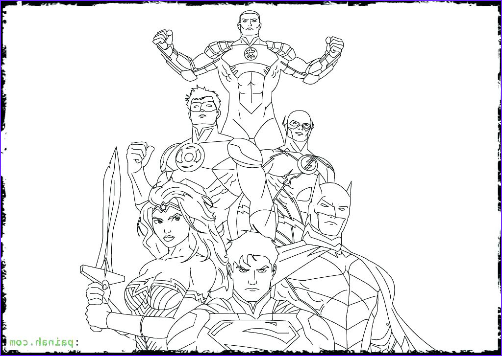 Justice League Coloring Book Cool Photography Justice League Coloring Pages to Print at Getcolorings