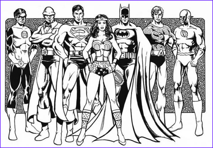 Justice League Coloring Book Luxury Gallery Free Justice League Printable Coloring Page