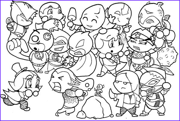 Justice League Coloring Book Luxury Photography Justice League Chibis by Skyloreang On Deviantart