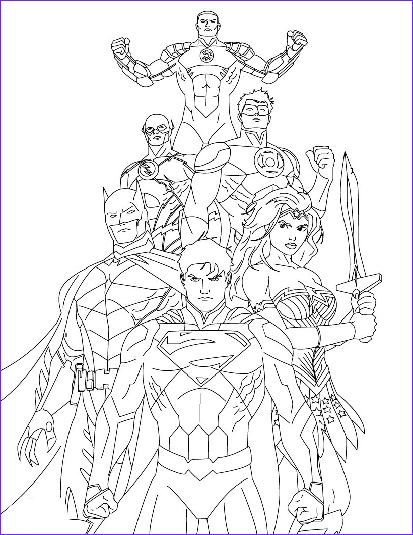 Justice League Coloring Book New Stock Justice League Coloring Pages to and Print for Free