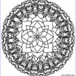 Kaleidoscope Coloring Awesome Gallery Printable Kaleidoscope Coloring Pages For Kids