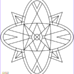 Kaleidoscope Coloring Awesome Image Kaleidoscope Coloring Page