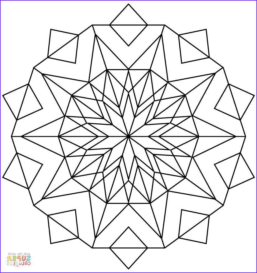 awesome kaleidoscope coloring picture